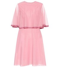 Valentino Tiered Dress Pink