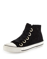 Ash Venus Lace High Top Sneaker Black