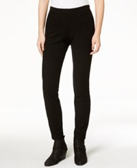 Eileen Fisher Ribbed Skinny Jeans Regular And Petite Black