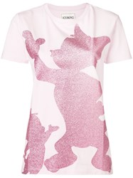 Iceberg Tom And Jerry Glitter T Shirt Pink And Purple