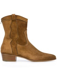 Louis Leeman Ankle Boots Brown