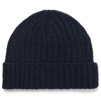 Oliver Spencer Ribbed Wool Beanie Navy