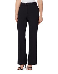 Tahari By Arthur S. Levine Plus Straight Leg Dress Pants Navy