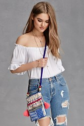 Forever 21 Beaded Abstract Crossbody Blue Multi