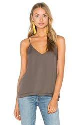 Heather Silk Double Layer Pleat Cami Sage