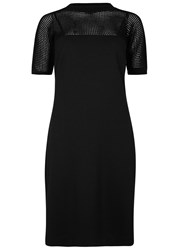 Boutique Moschino Black Jersey And Mesh Knit Dress