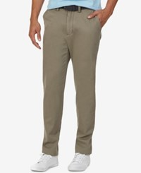 Nautica Men's Flat Front Classic Twill Deck Pants Baltic Brown