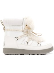 Ugg Australia Fur Lace Up Boots White