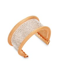 Catherine Stein Designs Inc Metal Revival Mesh Bangle Bracelet Two Tone