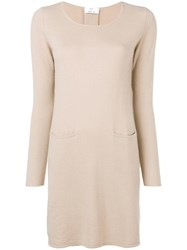 Allude Midi Knitted Dress Neutrals