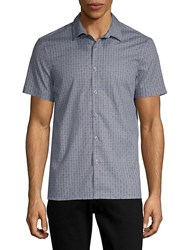 Perry Ellis Slim Fit Printed Button Down Shirt Ink