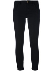 Cycle Skinny Cropped Trousers Women Cotton Spandex Elastane 30 Black