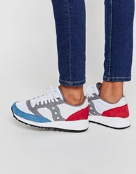 Saucony Jazz 91 White Red And Blue Trainers White Red Blue