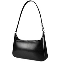 Fontanelli Classic Black Leather Handbag