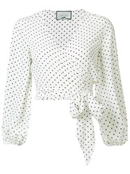 Alexis Nirav Wrap Blouse White