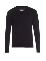 Maison Martin Margiela Crew Neck Fine Knit Sweater Navy