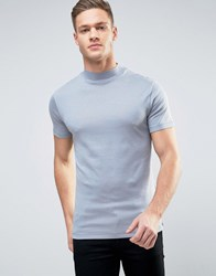 Selected Homme High Neck Tee Tradewinds Blue