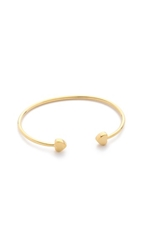 Sarah Chloe Lily Heart Bangle Bracelet Gold