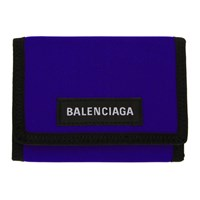 Balenciaga Blue Explorer Wallet