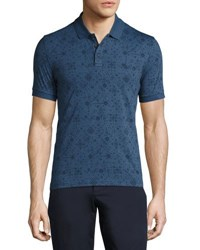 Original Penguin Graphic Print Cotton Polo Shirt Dark Denim
