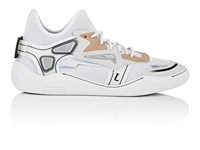 Lanvin Mixed Fabric Sneakers White
