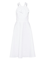 Rosie Assoulin Open Back Cotton Midi Dress