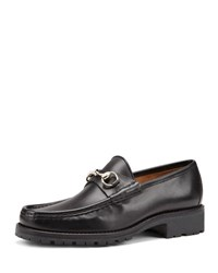 Gucci Leather Moccasin Black