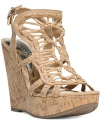 Carlos By Carlos Santana Banjo Platform Wedge Sandals Women's Shoes Brulee
