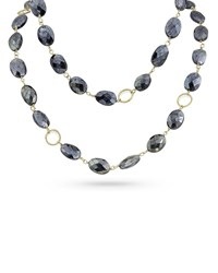Dominique Cohen 18K Gold Dark Labradorite Long Necklace 42 L