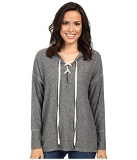 Project Social T Cross My Heart Hoodie Heather Grey Women's Sweatshirt Gray