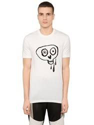 Markus Lupfer Sequined Skull Cotton Jersey T Shirt