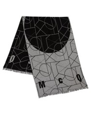 Mcq By Alexander Mcqueen Geometric Print Angle Scarf Black