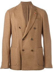 Lardini Double Breasted Blazer Brown