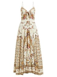 Camilla Olympe Ode Print Silk Dress White Print