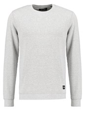 Only And Sons Onscrew Sweatshirt Light Grey Melange