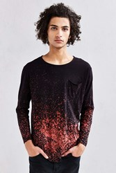 Feathers X Us Rags Bleach Splatter Long Sleeve Tee Black Multi