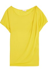 Vionnet Gathered Jersey T Shirt Yellow