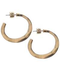 Kenneth Cole New York Earrings Gold Tone Small Post Hoop