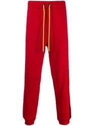 Iceberg Logo Lined Track Pants Red