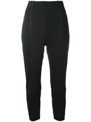 Y 3 Double Zip Trousers Women Cotton Polyester S Black