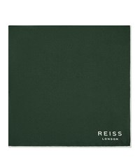 Reiss Moon Mens Silk Pocket Square In Green One Size