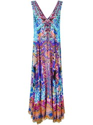 Camilla Embellished Print Maxi Dress