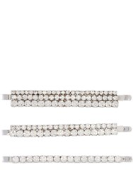 Alessandra Rich Set Of 3 Crystal Hair Clips