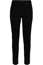 Mcq By Alexander Mcqueen Woman Zip Detailed High Rise Skinny Jeans Black