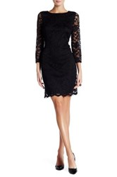 Nine West Lace Boatneck Dress Black
