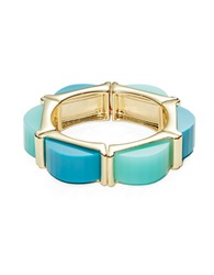 A.B.S. By Allen Schwartz Stretch Cuff Bracelet Blue
