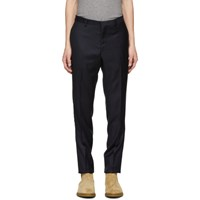 Tiger Of Sweden Navy Wool Toivo Trousers