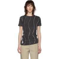 Martine Rose Black Reversible Wobbly T Shirt