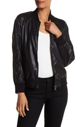 Nanette Nanette Lepore Faux Leather Bomber Jacket Black
