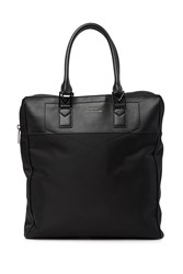 Versace Nylon And Leather Tote Black